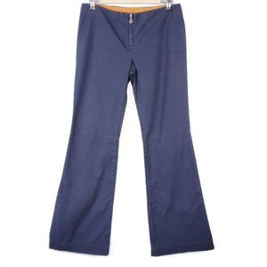 Tory Burch Zippered Flat Front Flare Stretch Pants